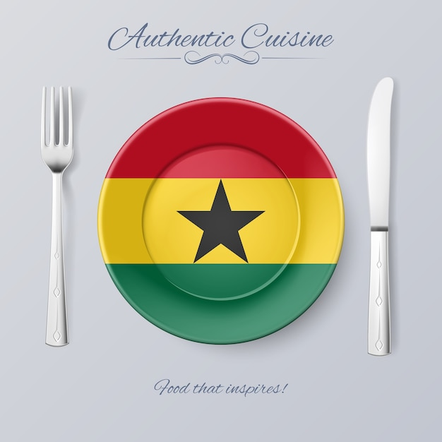 Authentic cuisine Premium Vector