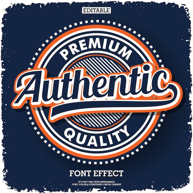Authentic logo type for product or service company Premium Vector