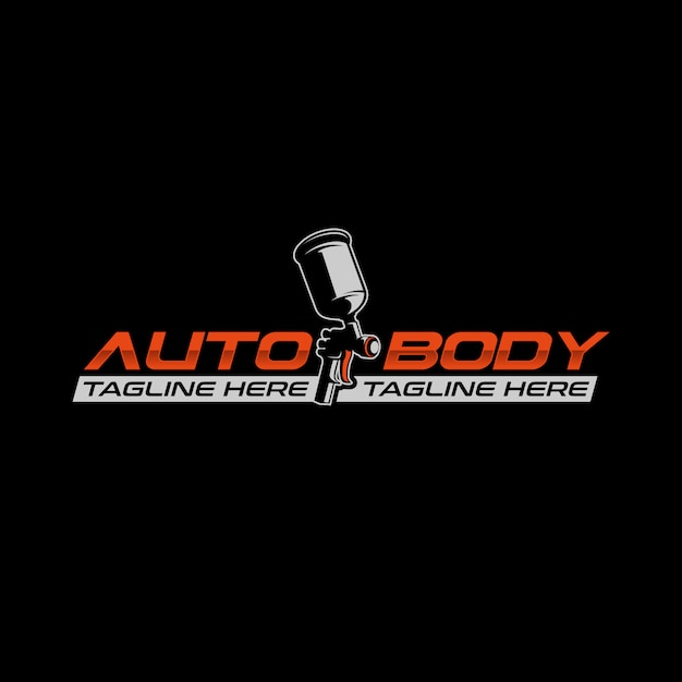 Auto body paint logo Vector | Premium Download