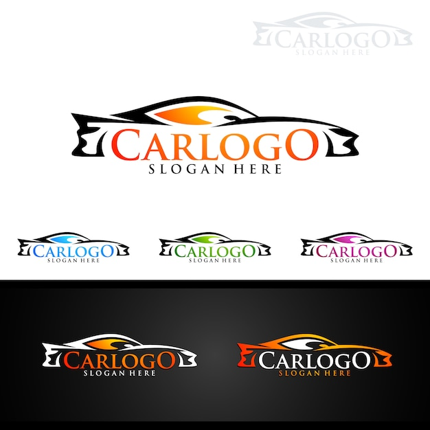 Auto Car Logo For Sport Cars Vector Premium Download