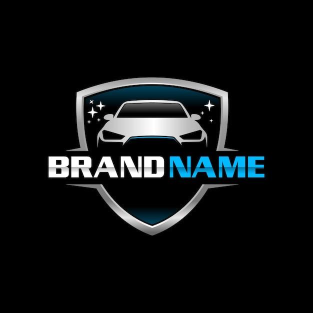 Auto clean logo tempalte Premium Vector