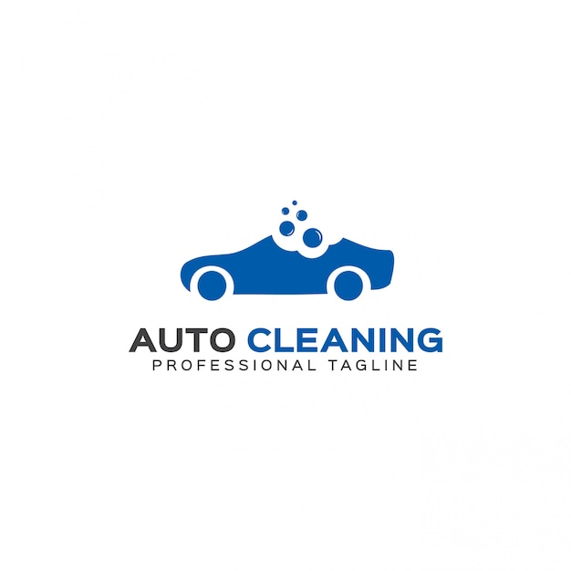 Auto cleaning logo template Premium Vector