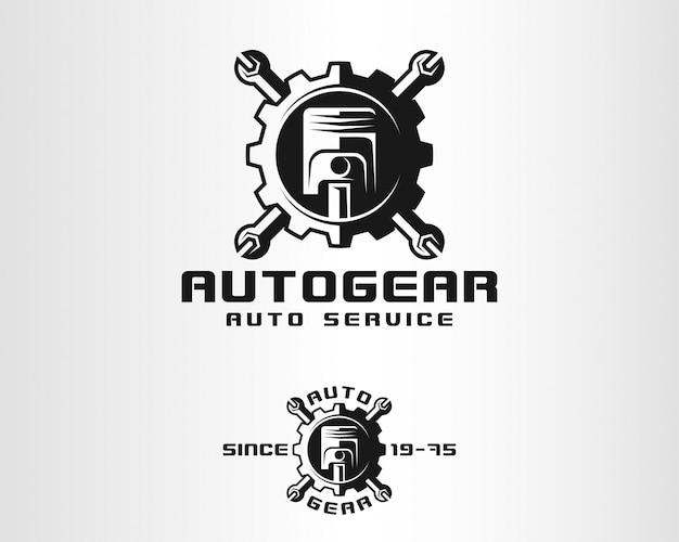 Auto gear - auto service logo Premium Vector