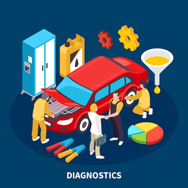 Auto service illustration Free Vector
