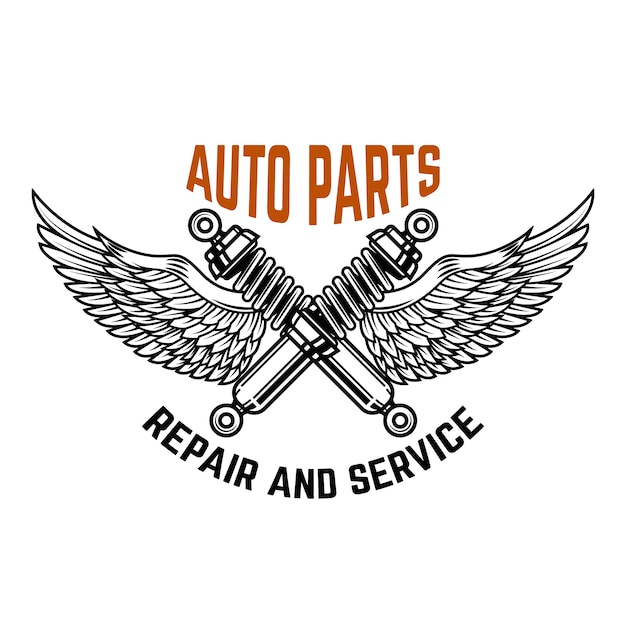 Auto service. service station. car repair.  element for logo, label, emblem, sign.  illustration Premium Vector