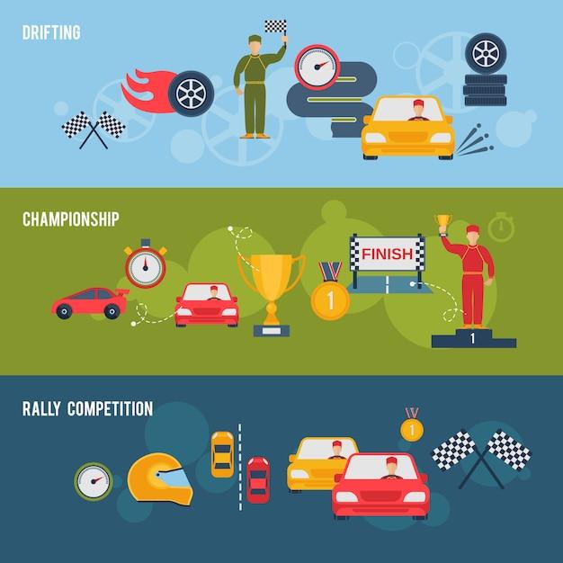 Auto sport banner Free Vector