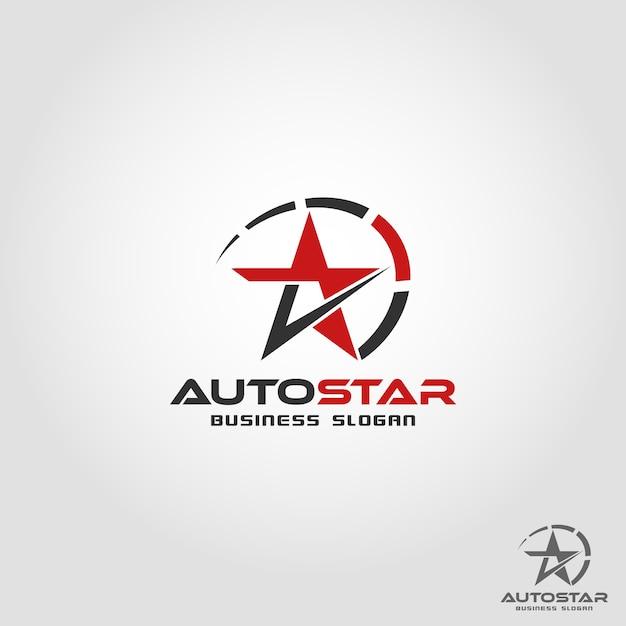 Auto star - auto speed logo template Premium Vector