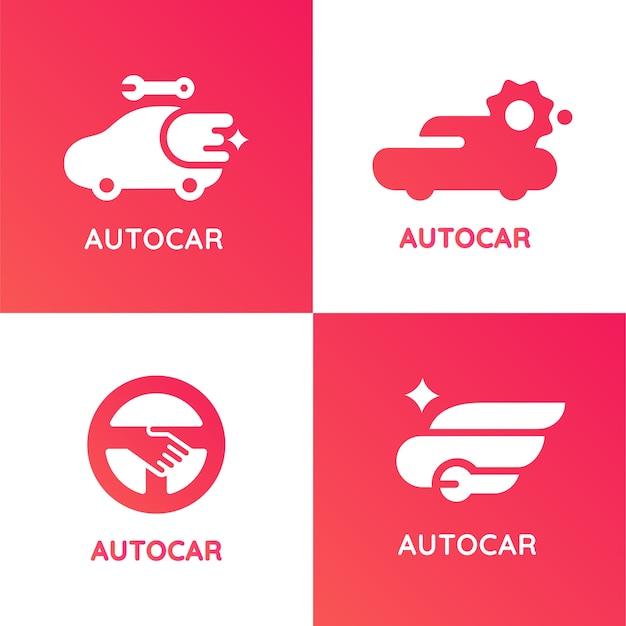 Autocar modern style application logo Premium Vector