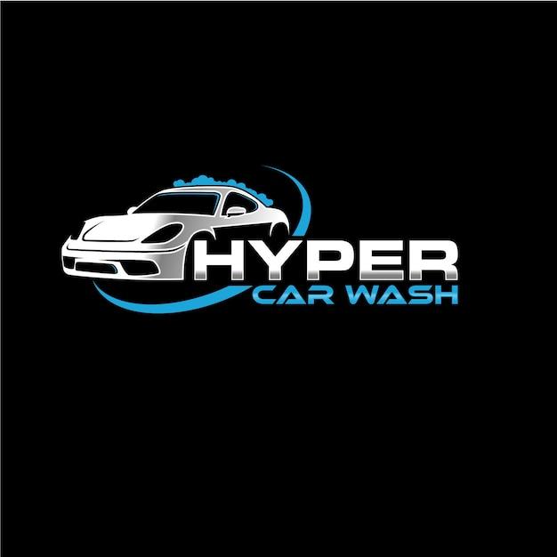 Automotive company logo car wash Premium Vector