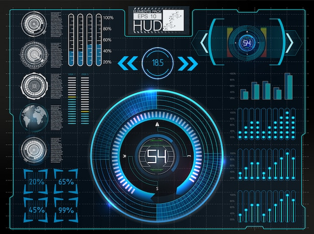 Automotive dashboard of the future. hybrid car. diagnostics and elimination of breakdowns. Premium Vector