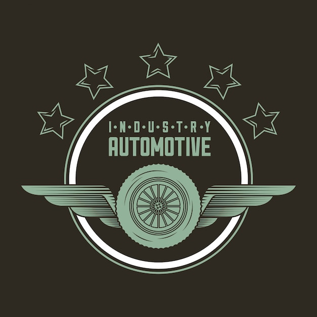 Automotive industry logo Free Vector