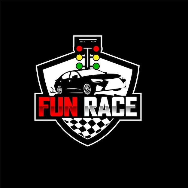 Automotive modern vintage fun race logo design Premium Vector