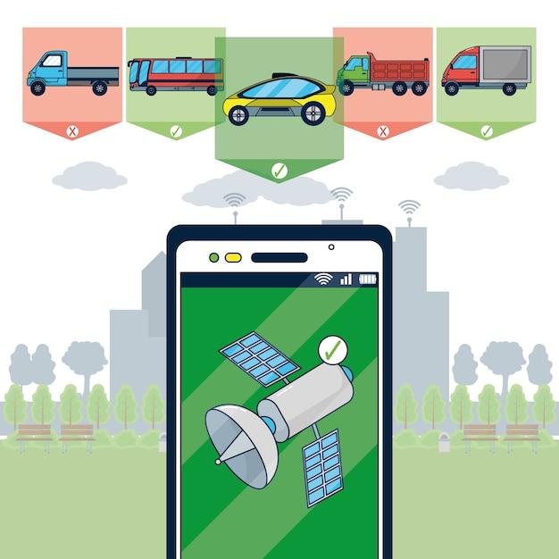 Autonomous car technology Vector | Premium Download
