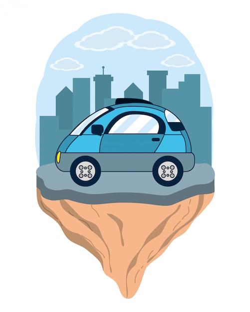 Autonomous car technology Premium Vector