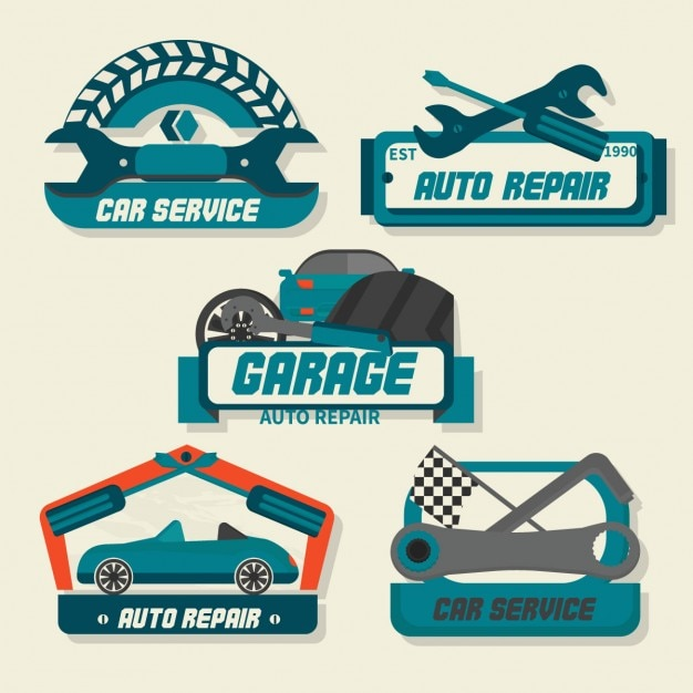 Autoserviceロゴ 無料ベクター