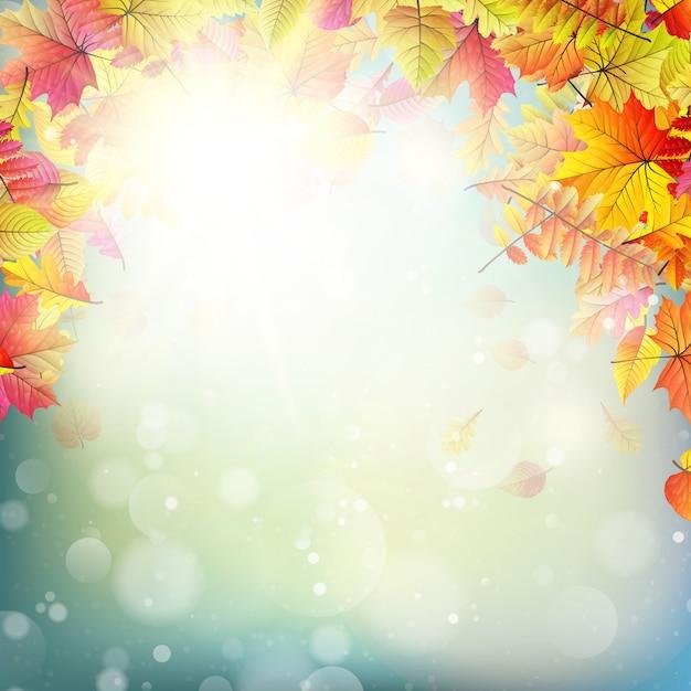 秋の抽象的な背景。 Premiumベクター