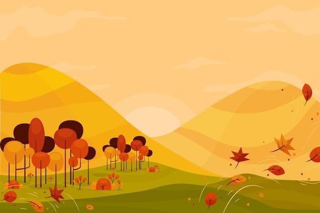 Осенний фон красочный Бесплатные векторы