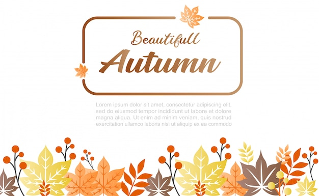 Autumn background illustration. it can be used as banner and for social media Premium Vector