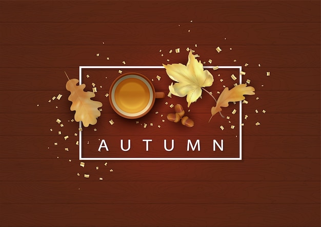 秋の背景イラスト Premiumベクター