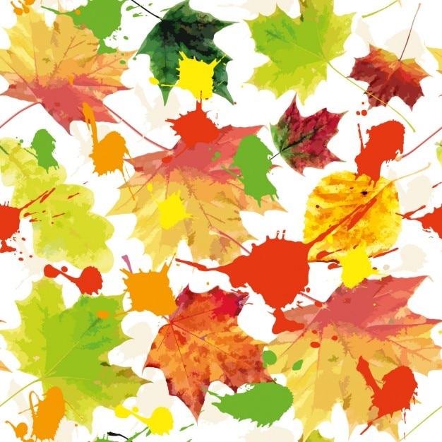 Autumn background textureseamless pattern Free Vector