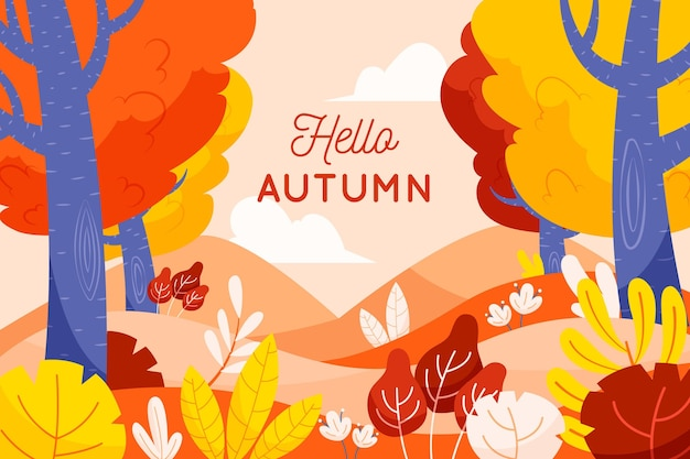 Autumn background theme Free Vector