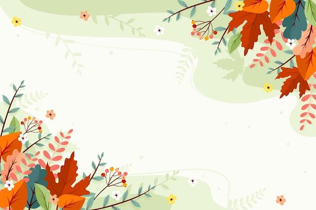 Осенний фон с пустым пространством Бесплатные векторы