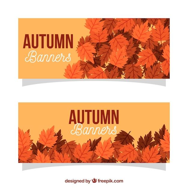 Autumn banner design Free Vector
