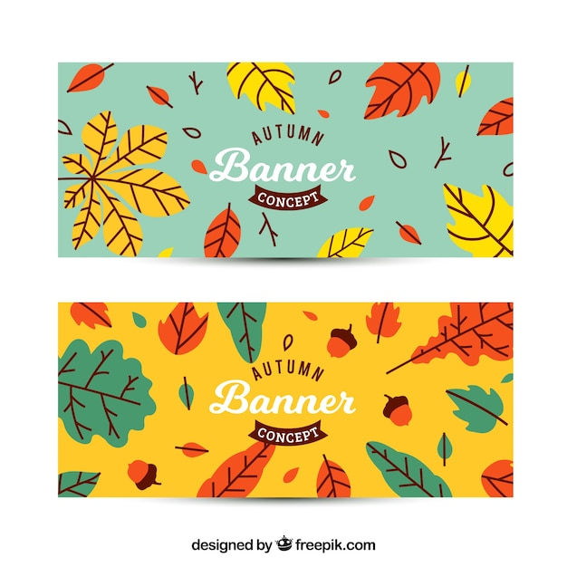 Autumn banners with fun style