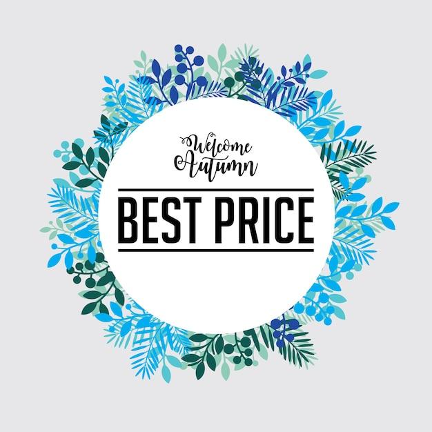 autumn best price sign template set vector premium download