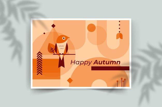 秋のカードテンプレート 無料ベクター