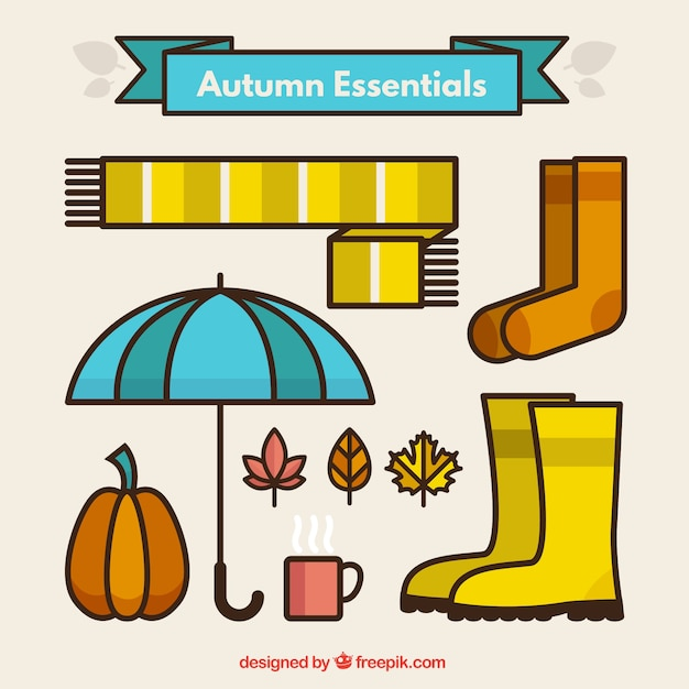 Autumn clothing Free Vector