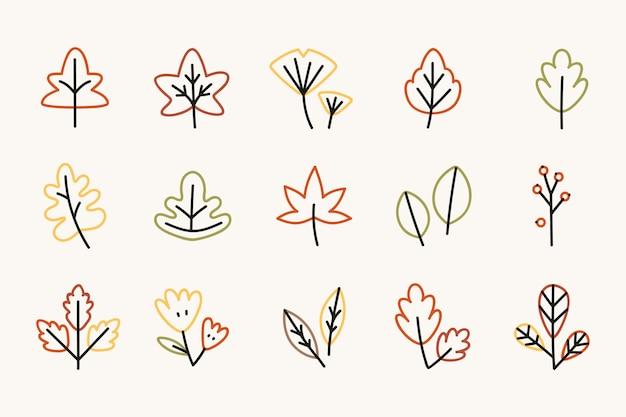 Autumn elements Free Vector