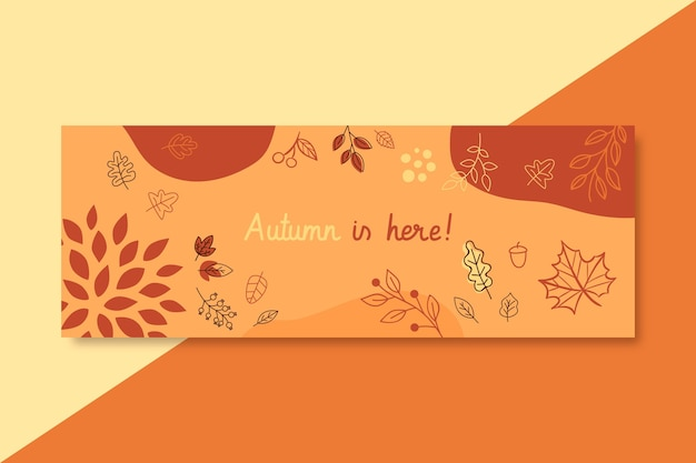 Autumn facebook cover template Free Vector