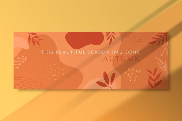 Autumn facebook cover with leaves Free Vector