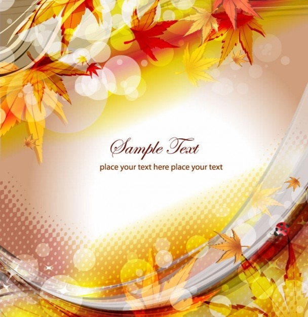 autumn floral background vector illustration Free Vector