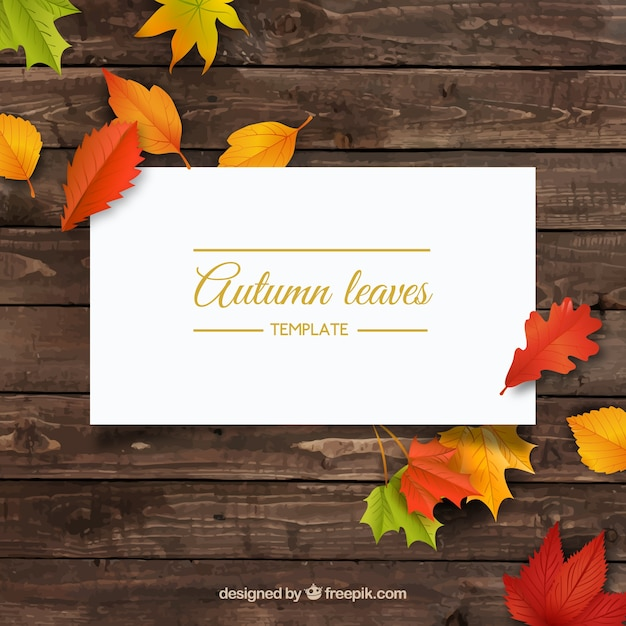 Autumn frame with leaves Free Vector