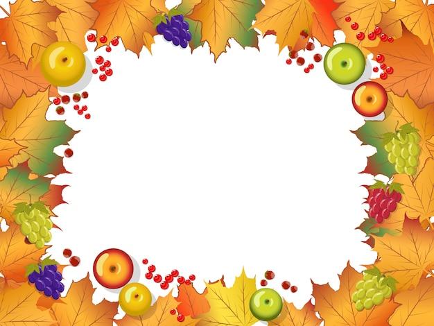 Autumn frame Premium Vector