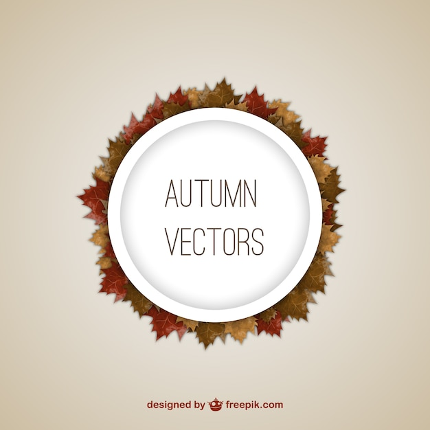 Autumn frames with leaves Free Vector