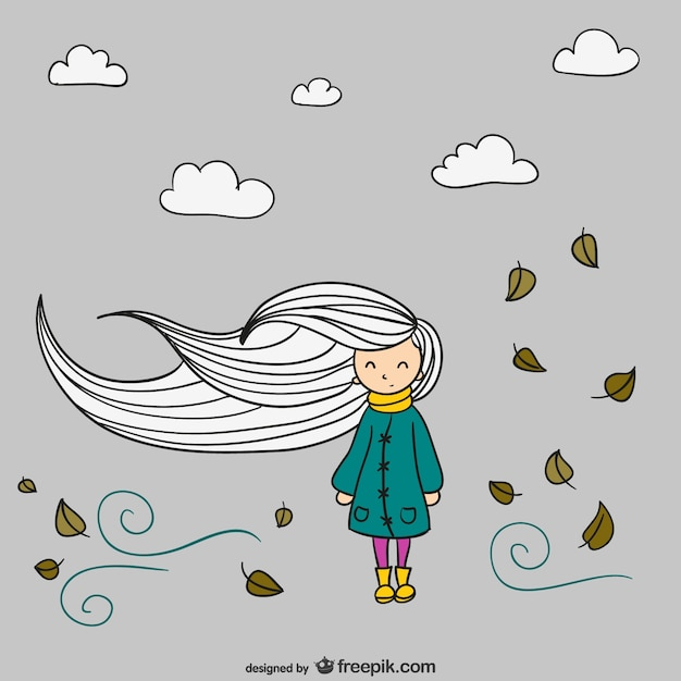Autumn girl Free Vector