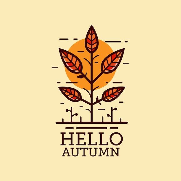 Autumn illustration Premium Vector