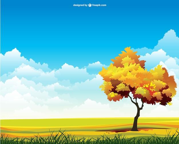Autumn landscape Free Vector