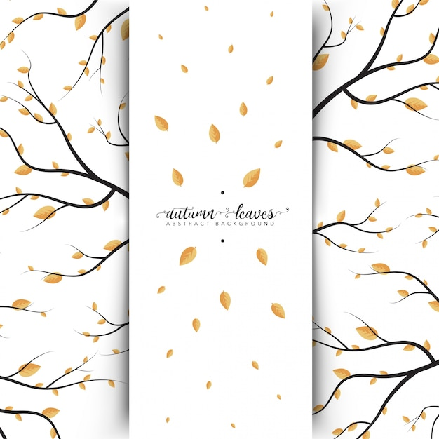 Autumn Leaves Abstract Banner Free Vector