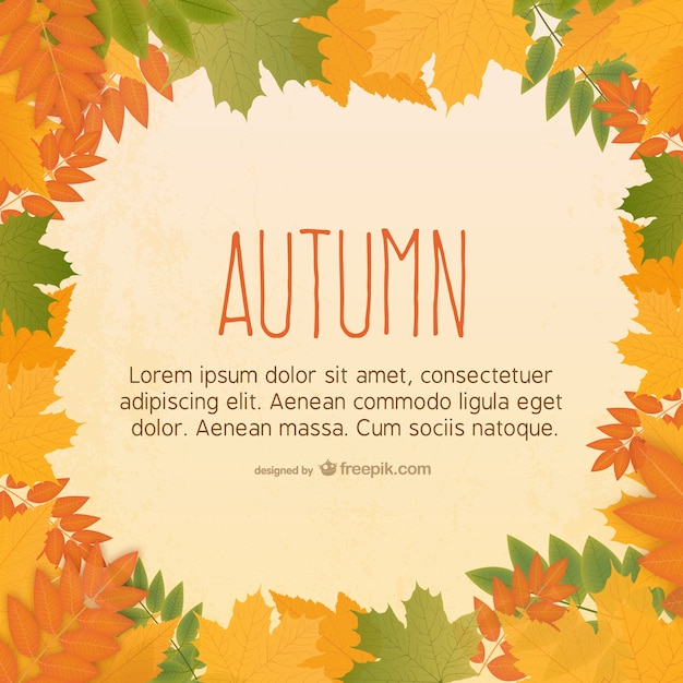 autumn leaves background vector free download