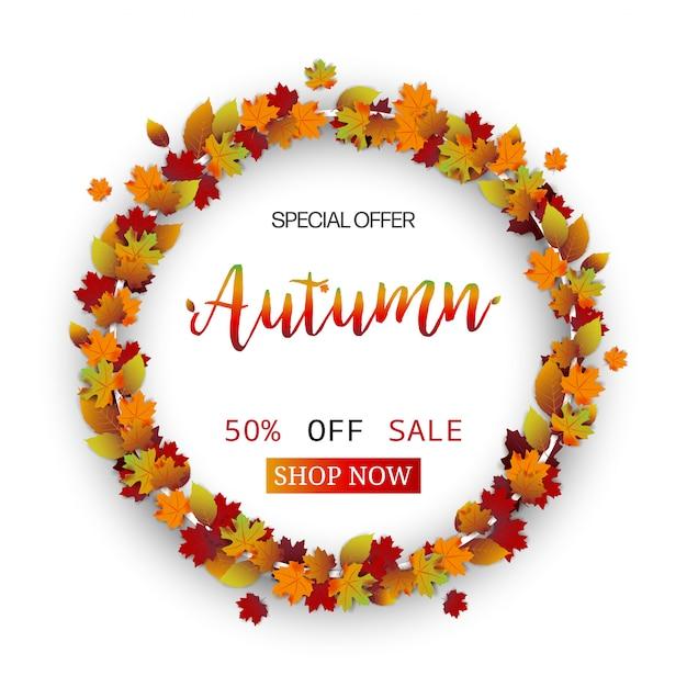 Autumn leaves festival Premium Vector
