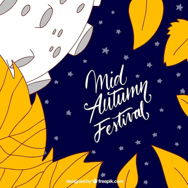 Autumn leaves, mid autumn festival