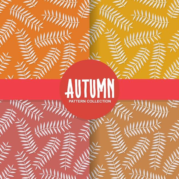 Autumn leaves paper cut style background pattern Premium Vector