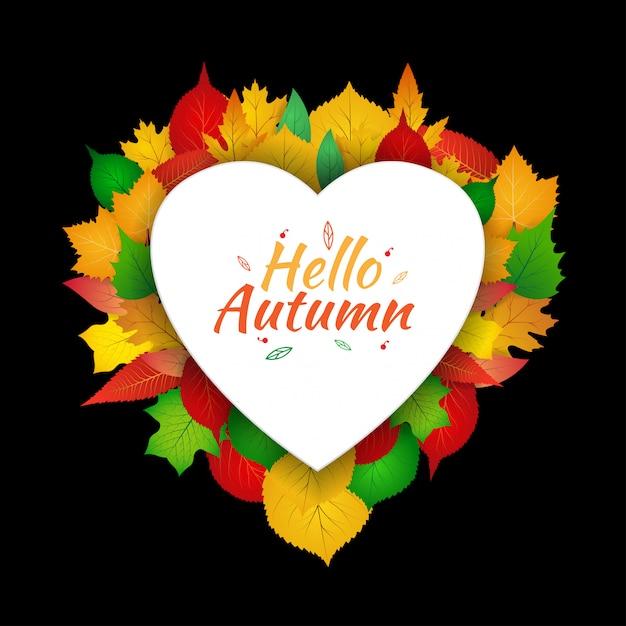 Autumn love template Premium Vector