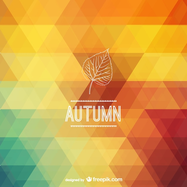 Autumn polygonal background Free Vector