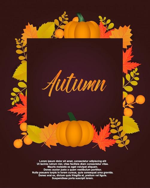 Autumn poster Premium Vector