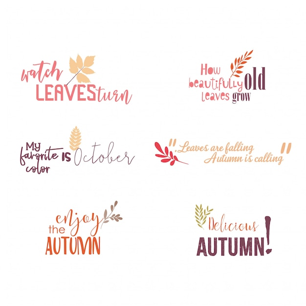 Autumn Quotes Awesome Autumn Quotes Greetings Vector Premium Download